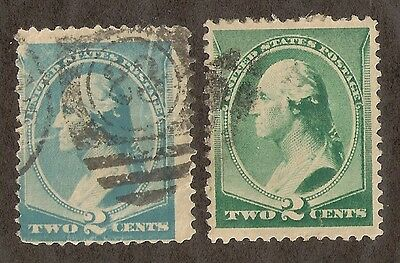 US # 213 (1887) 3c Used - EFO:  Blue Stamp - WRONG COLOR {Rare - Scarce}