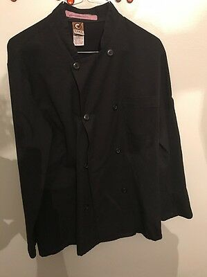 BLACK  Small Long  Sleeve Chef Coat / Jacket by Fame Chef