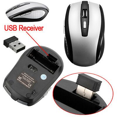 2.4GHz Wireless Cordless Optical Scroll Mouse USB Dongle Computer Laptop Blue