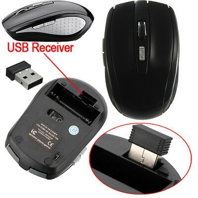 2.4 GHz USB OPTICAL CORDLESS WIRELESS SCROLL MOUSE MICE FOR PC LAPTOP COMPUTER