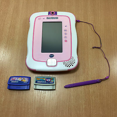 Vtech Innotab 3 Handheld CHILDS Learning Console Tablet Pink & White 1 Game