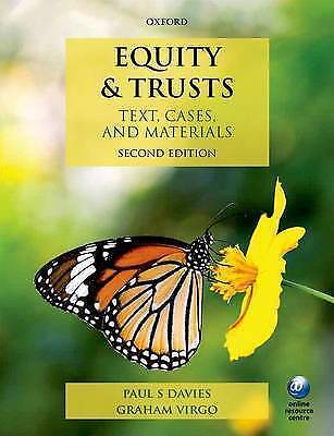 Equity & Trusts Text, Cases, and Materials 2/e, Good Condition Book, Virgo, Grah