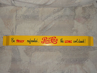 XL 33'' Antique door push bar PEPSI-COLA  Soda Advertising