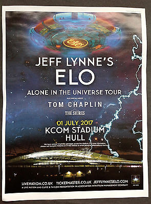 Jeff Lynne's ELO 'Alone In The Universe' Tour Press Advert Hull 2017