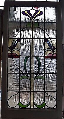 Long leaded light stained glass window. R517b. WORLDWIDE DELIVERY!!!