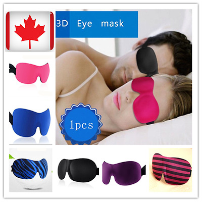 3D/CUPPED EYE MASK - Perfect for Sleeping on a Plane or in Bed - IN CANADA