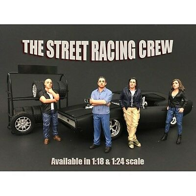 1/24 scale - Street Racing Crew - Set of 4 -  AMERICAN DIORAMA - figure/figurine