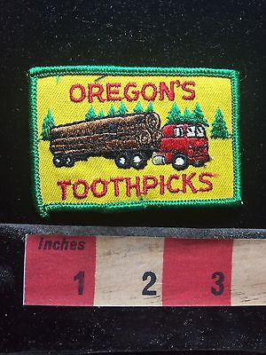 OREGON'S TOOTHPICKS Lumber Timber Big Trees Logging Industry OR Patch S76J