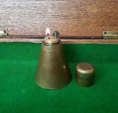 WWII WW2 BRASS TRENCH ART MILITARY LIGHTER SHELL 1940's