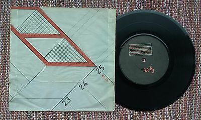 "Section 25 Girls Don't Count 7"" Rare sleeve Factory post punk"