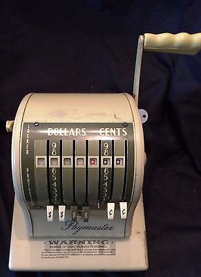 Vintage Paymaster Series S-1000 Check Writer fully functional with Key...