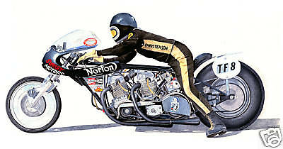 DRAG RACING - HOGSLAYER  NORTON - Ltd. Edition Print
