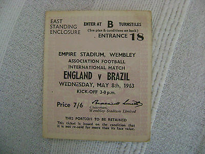 football stub Wembley association football international  England v Brazil
