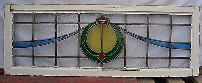 Leaded light stained glass window set. R525. WORLDWIDE DELIVERY!