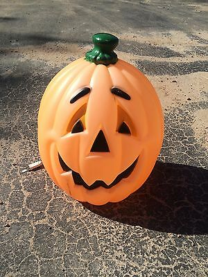 Vintage Pumpkin 24 Inches Blow Mold Holiday Halloween Yard Decor