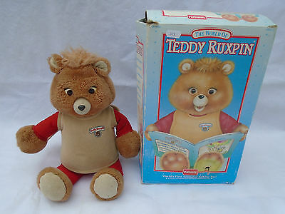 Teddy Ruxpin Teddy Boxed With The Airship Tape Playskool 1992 Spares