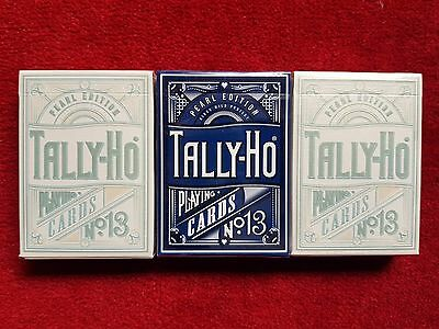 Tally Ho Pearl Gilded Rare Custom Playing Cards - FULL 3 DECK SET - Kings Wild