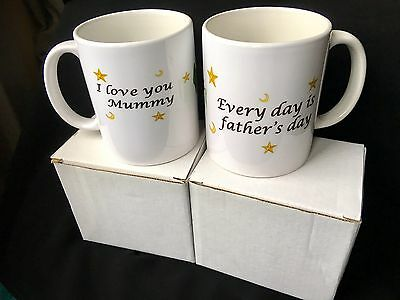 Gift For Parents- 2 Mugs For Mammy And Daddy.
