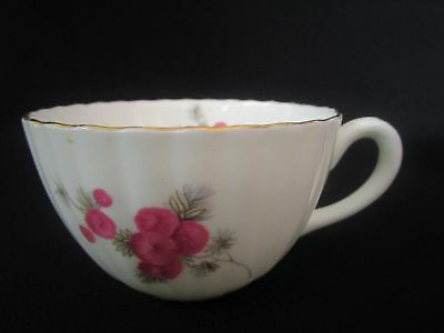 Radfords Bone China - Pink Floral with Gold Trim Ribbed Tea Cups (w)