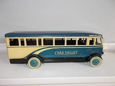 Chad Valley 1950's Tinplate Wind-Up Motor Bus