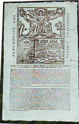 IMAGE DE CONFRERIE 1750' POSTER MATHURINS HOLY TRINITY & REDEMPTION of CAPTIVES
