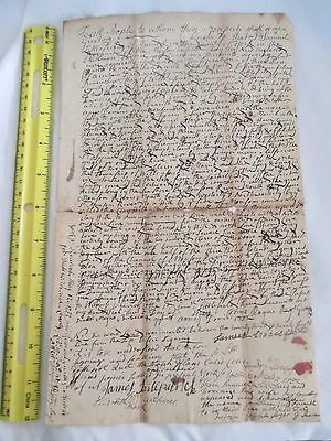 1732 Colonial American Document Kennebunk Beach ME Great Hill Joseph Moody Cole
