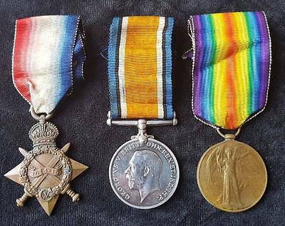 WW1 14-15 Star Trio Royal Artillery With WO.363 Records