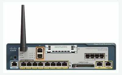 Router CISCO UC540W Wifi 2 BRI Switch 8 Poe + 5 Telefonos IP Phone SPA502G VoIP