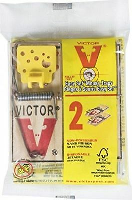 4 Packs of 2 Easy Set VICTOR Mouse Snap Traps - MOUSE RODENT VERMIN PEST CATCHER