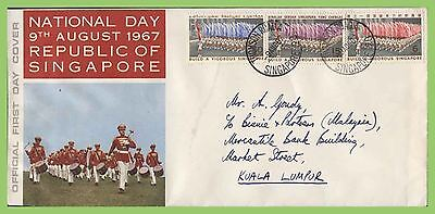Singapore 1967 National Day set First Day Cover