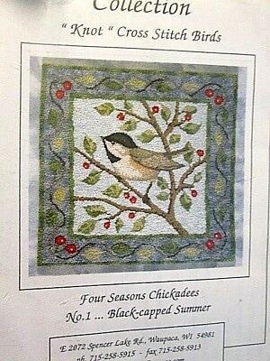 Black-Capped Summer Chickadee KNOT Stitches Craft Kit-Crossed Wing Collection