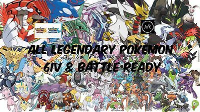 All Legendary Shiny Pokemon 6IV Guide 3DS Event Ultra Sun Ultra Moon X Y ORAS