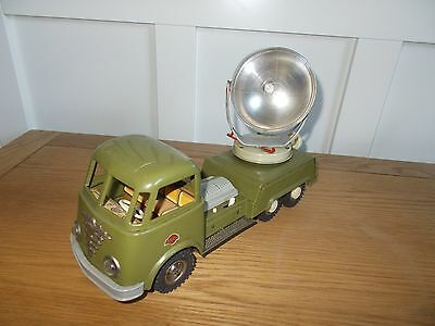 Vintage Gama Tinplate Searchlight Truck Made In Germany