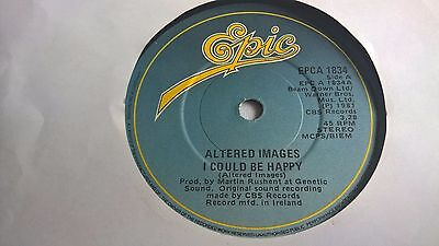 """ALTERED IMAGES - I Could Be Happy  - IRISH PRESSING 7"""" IRELAND"""