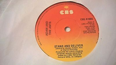 """ADAM AND THE ANTS - Stand And Deliver - IRISH PRESSING 7"""" IRELAND Ant New Wave"""