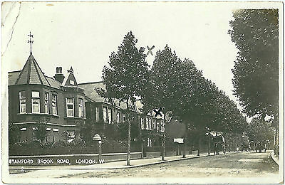 Stamford Brook Road Chiswick London. Real Photographic (Rp) Postcard