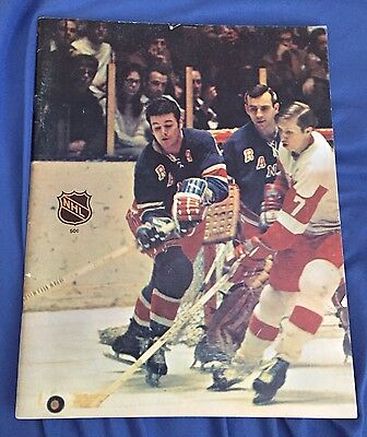 1969-70 NHL Program Chicago Blackhawks EX+ condition NY Rangers