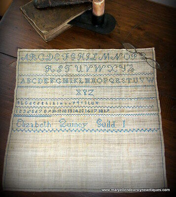 "19th C. Needlework Sampler; ""Elizabeth Quincy Guild I"""