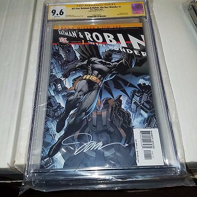 All Star Batman & Robin #1, CGC SS Graded 9.6, Signed by Jim Lee