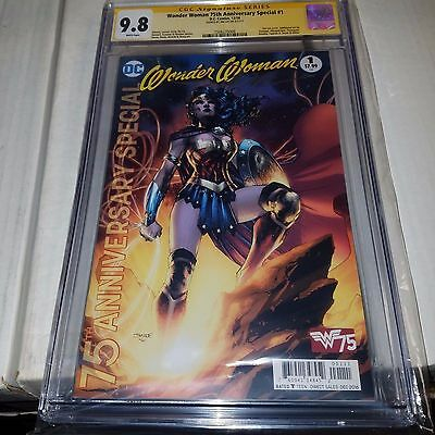Wonder Woman 75th Anniversary Special #1, CGC SS Graded 9.8, Signed by Jim Lee