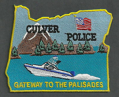 Culver Oregon Police Patch Speed Boat