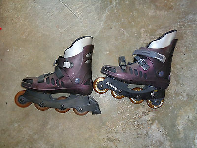Boomerang Roller blades Inline Skates size 42 / 8 UK and protective gear unisex