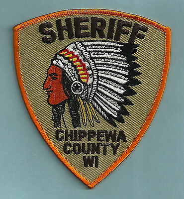Chippeewa County Sheriff Wisconsin Police Patch Indian