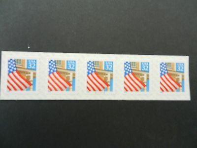 #2915 32c S/A *FLAG OVER PORCH PNC5*. PLT #V11111. MNH, VF, OG.