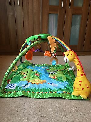 FISHER PRICE  RAIN FOREST Baby Gym & Play Mat With lights & sound