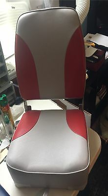 Boat Seat Chair Marpac High Back Grey & Red Cushion