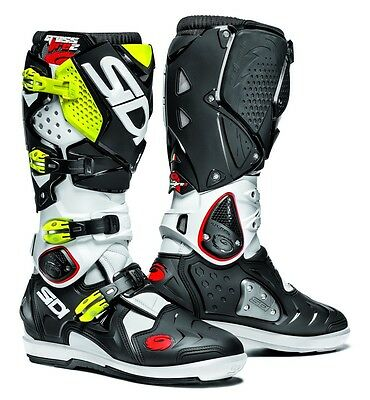 SIDI Crossfire 2 SRS Black White Yellow - Fast, Free Shipping