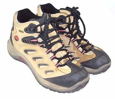 Women's MERRELL REFLEX MID GORE-TEX Taupe HIKING TRAIL BOOTS SHOES Size 10 US