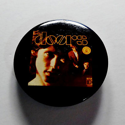 The Doors Pin Jim Morrison Vintage Early 1980s Button Badge Robbie Krieger Ray