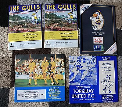 Bundle of TORQUAY UNITED FC Football Programme's x5 1988-1997